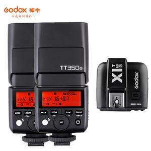 Image 4 - Godox Mini Speedlite TT350S caméra Flash TTL HSS GN36 + transmetteur de X1T S pour Sony appareil photo reflex numérique sans miroir A7 A6300 A6500 A7 III