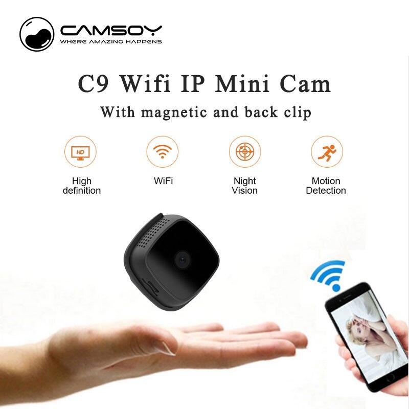 C9 Smart Wifi Mini caméra extérieure 720 P HD Micro caméra détection de mouvement IR Vision nocturne vidéo IP caméra de sécurité caméra cachée