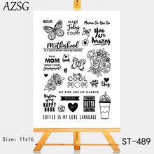 AZSG Coffee is my love language Clear Stamps For DIY Scrapbooking Rubber Stamp/ Seal Paper Craft Stamp Card Making