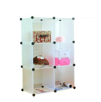 Magic Cube PP Storage Rack Plastic Simple Storage Cabinet Storage  Compartment Bookshelf