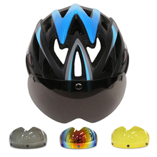 MOON Goggles Cycling Helmet CE Certification Bike Ultralight Bicycle Helmet With Magnetic G Bike Helmet Casco Ciclismo