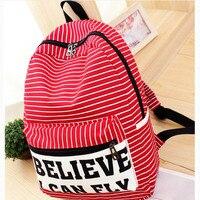 Women Backpack For Teenager Girls Handmade Vintage Rucksack Striped Canvas Notebook Mochila Female School Laptop Sale
