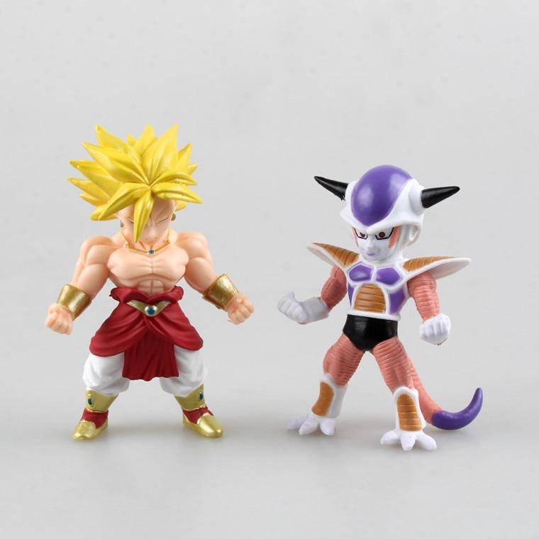 ②Anime japonés Dragon Ball broly frieza PVC figura de acción modelo ...