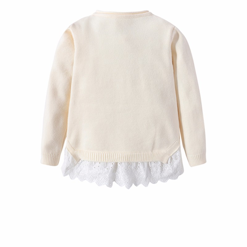 Cotton Girls Sweaters Solid Top With Button Long Sleeve Children Clothes Warm Girl Toddler Cardigan Autumn Winter Kids Sweater (2)