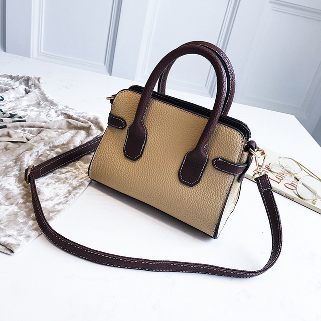 Women Portable bag Hit Color Lichee Pattern Handbags Lock Tote Shoulder Bags Designer Brand High Quality Women Crossbody Bags 3