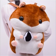 WYZHY  Toy plush bag cartoon hamster backpack round doodle anime girl boudoir decorations promotion 40CM