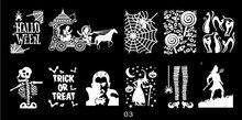 1 PCS Halloween Theme Nail Stamping Plate Pumpkin/Spider/Skull Image Template Stamp Tools DIY Nails 2018 JR03
