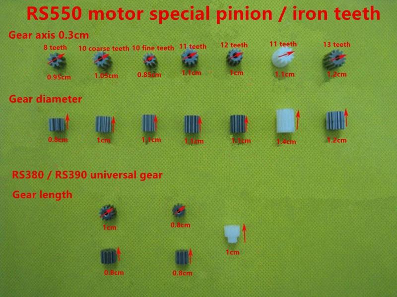DC Motor 6V 12V Children electric car tricycle motor 380 390 540 550, Kid's toy car engine gear 8/10/11/12/13 teeth optional Pakistan