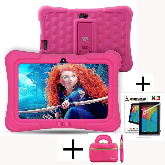 Дракон Сенсорный Y88X Плюс 7 дюймов Дети Tablet для Детей Quad ядро Android 5.1 + Таблетка сумка + Протектор Экрана Лучшие подарки для ребенок