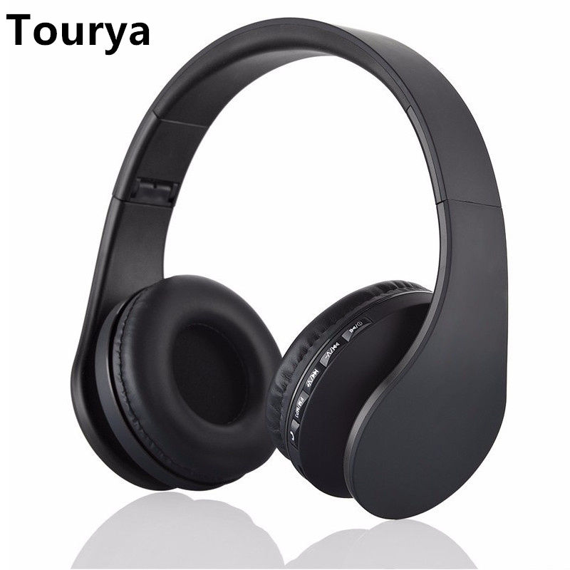 Wireless Headphones Bluetooth Headphone Headset Earphone Earbuds With Mic Support TF card FM For Computer Mobile Phone Music image