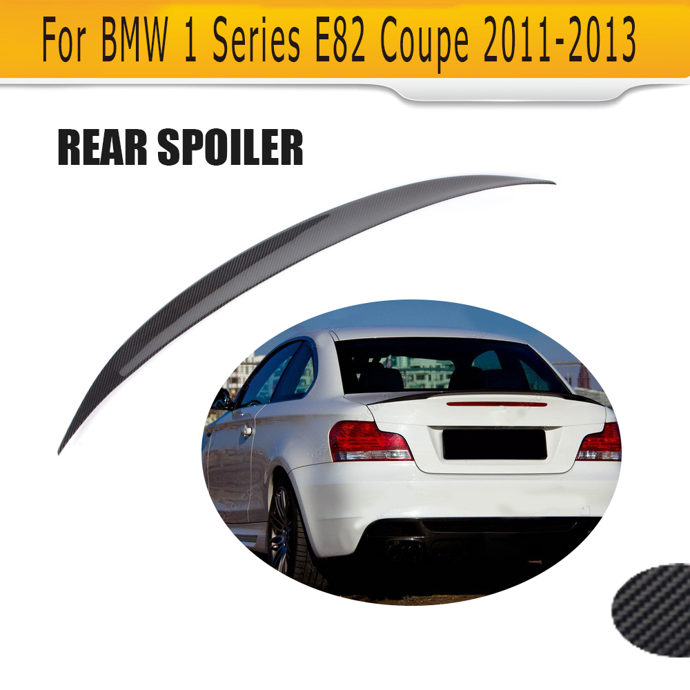 1 series p style carbon fiber rear trunk lip spoiler for bmw e82 m 2008