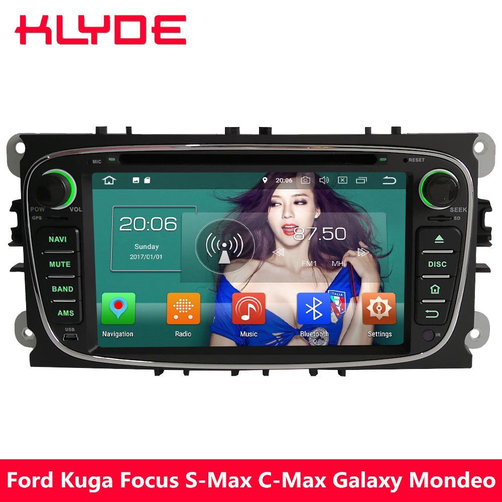 KLYDE 4G WIFI Android 8.0 Octa Core PX5 4GB RAM 32GB ROM Car DVD Multimedia Player For Ford Kuga Focus S-Max C-Max Mondeo Galaxy