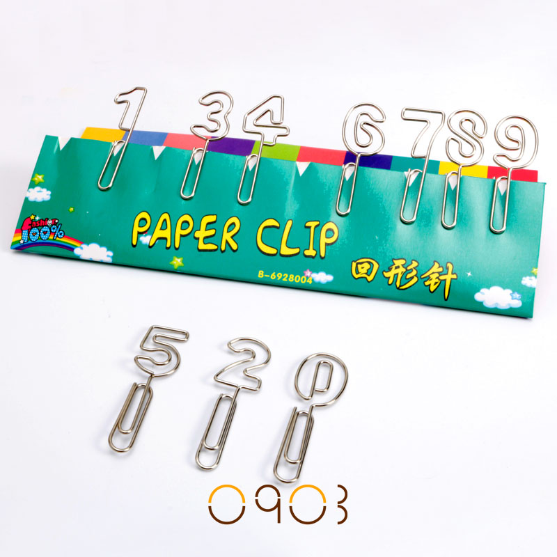 Купить от 0 до 9 набор металлических зажимов для бумаги корейские канцелярские