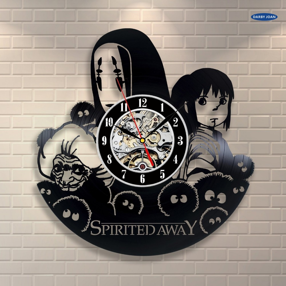 Wall Clock Spirited Away Anime Movie Vintage Office Decor