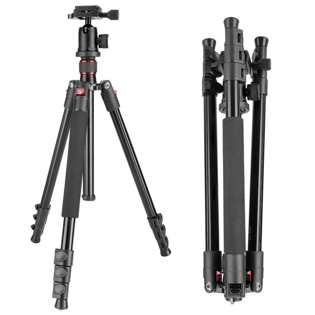 "Neewer 62""/158cm Alluminum Alloy Camera Tripod Stand Monopod+Ball Head+Quick Release Plate For Canon/Nikon/Pentax/Sony DSLR"