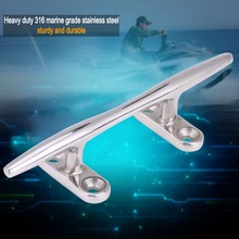 Boat Hollow Base Cleat 5″ Stainless Steel Marine Boat Dock Deck Rope Cleat Hollow Base Bollard Universal for Marine Boat Yacht