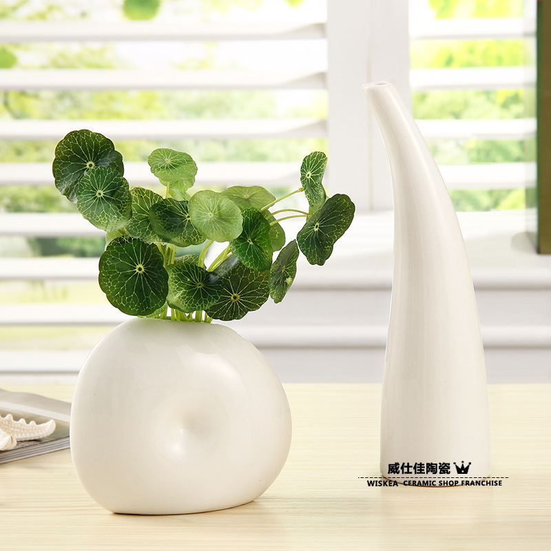 Small Ceramic Vase Ornaments Home Decor Ideas Flower Vase Office Furnishings Simple And Stylish Living Room