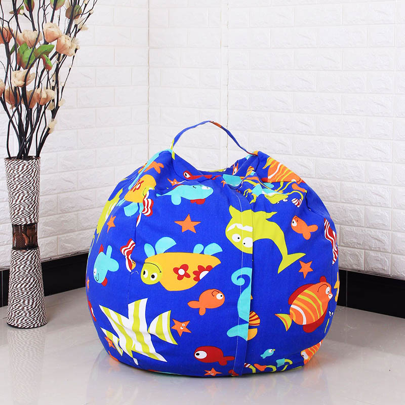 Canvas Bean Bag Chair Clothes 1PC New 45cm Stuffed Animal Spherical Toys High Capacity 33Patterns With Handle Kids