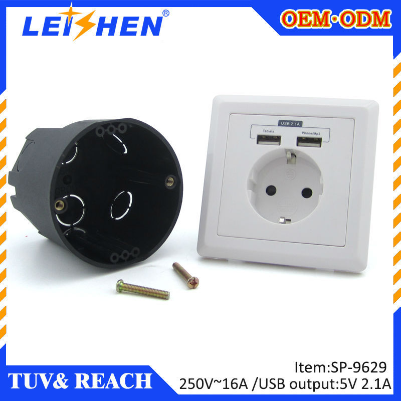 Cooper Wiring Devices 16 Amp Leishen USB Wall Outlet Sockets for ...