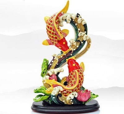 decorative crafts golden list of educational materials with painted pottery carp dancing in dragon gate lotus flowers hundred