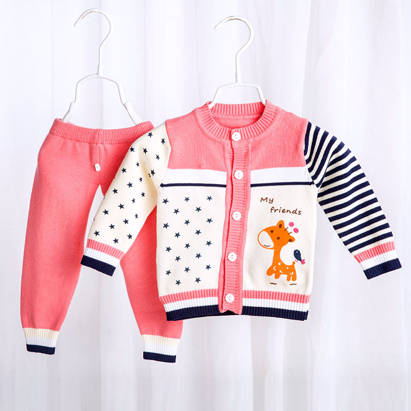 bfab18f00 US $15.59 |Baby Sweater Sets Newborn Boys And Girls Long Sleeve Top+Pants  Clothes Set Infant Cotton Animals Casual Outfit Babys Suit CL2056-in ...