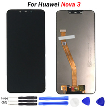 Original Nova 3 LCD Axisinternational 6.3 For Huawei Screen display PAR-LX1 Display+Touch Digitizer