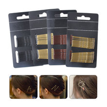 Hair Waved Bobby Pin 24pcs/lot Women 4 Colors Grips Salon Invisible Hairpins Curly Wavy Pins And Wedding Maker