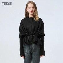European Style Real Sheepskin Genuine Women Coats 2019 Fashion Sheepskin Genuine Leather Short Windcoat Bat Sleeve