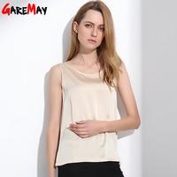 2015 Summer Silk Tops Bottoming Shirt Vest For Women Females Wide Straps Loose Emulation Silk Big