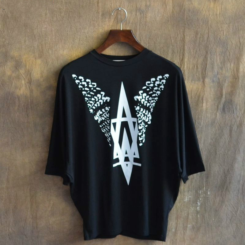 2017 Nové letní styl velké velikosti Loose Bat rukáv tričko muži Hip Hop T košile muži slavné značky T košile módní Homme Tee košile  t