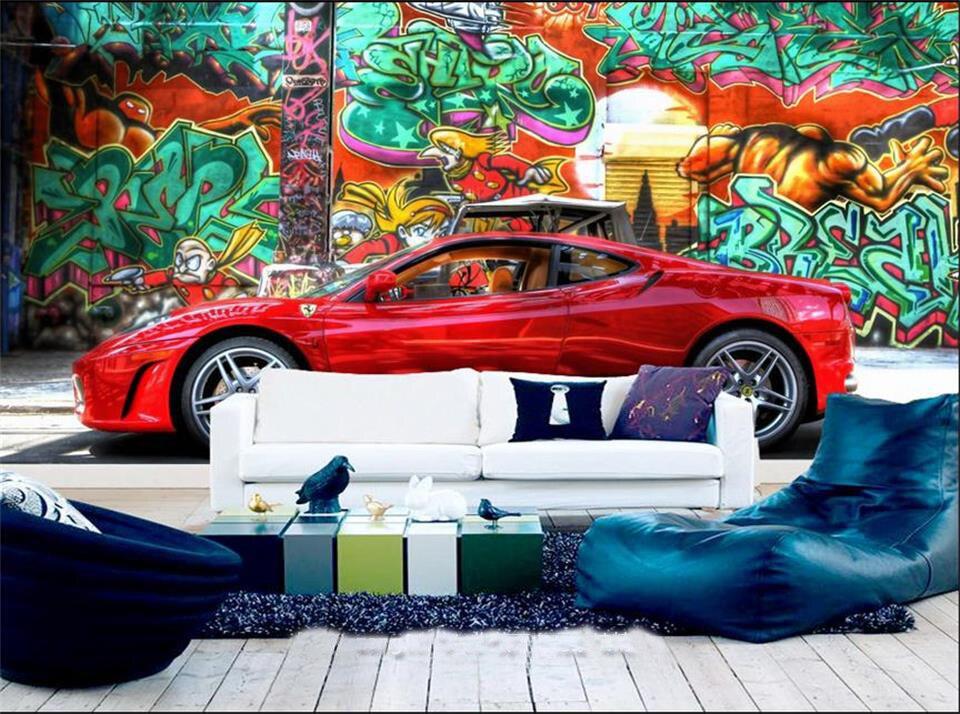 3d photo wallpaper custom room non woven mural picture graffiti car painting sofa tv background bar ktv decoration 3d wallpaper