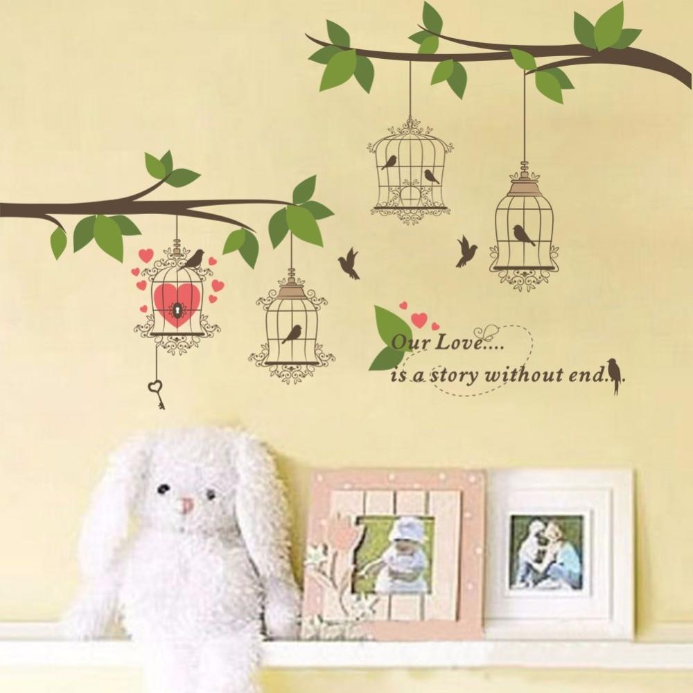Contemporary Bird Cage Wall Decor Motif - Wall Art Collections ...