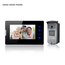 YobangSecurity Wired 7″ inch Video Door Phone House Gate Intercom with 1 Indoor Monitor System And RFID ID keyfobs