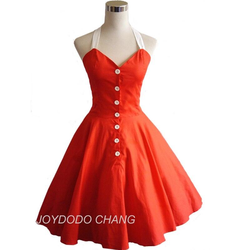 Dámské letní šaty Šaty 50s 60s Retro Swing Robe Rockabilly Šaty Černé Pin Up Ball Gown Party Šaty 3Cols
