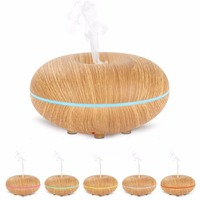 GX Diffuser LED Light Changing Ultrasonic Humidifier Essential Oil Aroma Diffuser Household Aromatherapy Mist Maker Fogger
