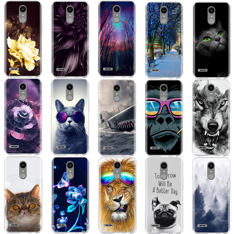 3D Style LG K10 2017 Case Soft Silicone Shell For LG K10 2016 Cover Cute Ultra Thin Coque For LG K10 2017 M250N M250 Phone Cases