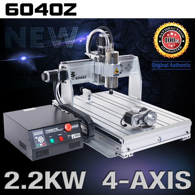 NEW 4 axis 6040 2200W USB MACH3 CNC ROUTER ENGRAVER/ENGRAVING DRILLING AND MILLING MACHINE 220VAC 2017 sale cnc router machine wood lathe new 6040 1500w 4 axis router engraver engraving drilling and milling machine 220v ac