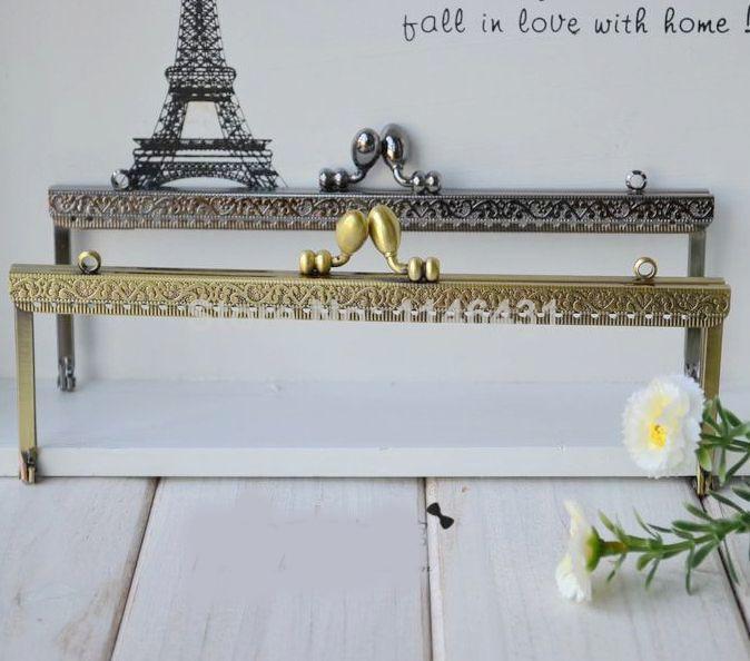10pcs/lot 20cm bronze Metal Purse Frame Handle for handbags sewing bag accessories clutch purse frames freeshipping S0056