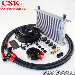 AN-8AN 25 wiersz uniwersalna chłodnica oleju silnikowego w/Adapter do filtra zestaw węży + 7