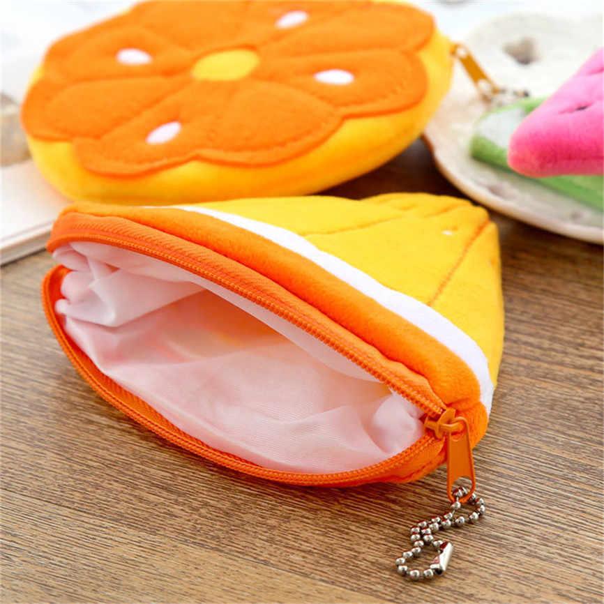 Игрушечный кошелек Подвеска в виде монеты сумка фрукты лимон арбуз портативный плюшевый Карманный Кошелек плюшевая игрушка брелок подвеска