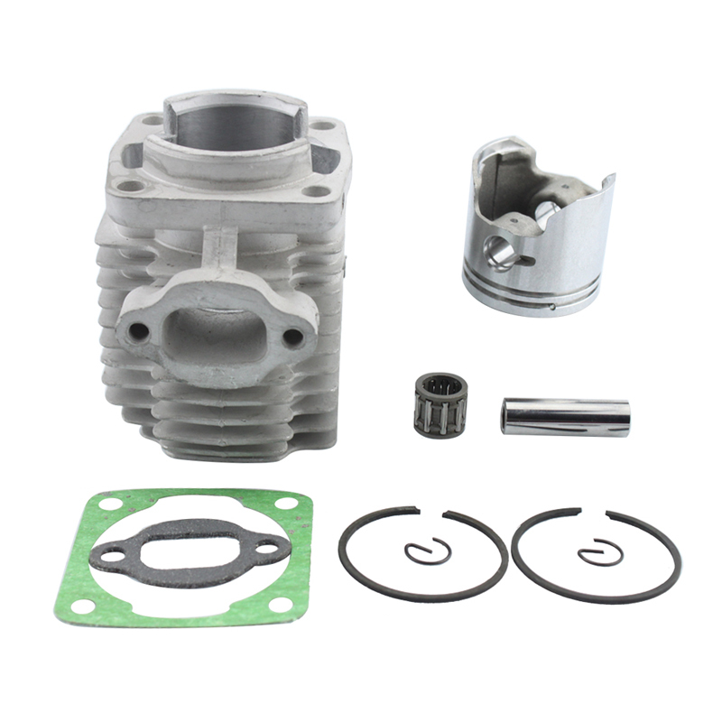 GOOFIT 40mm motorcycle Cylinder Piston Assembly Kit for 47cc 2 Stroke Engine Mini Quad ATV Pocket Dirt Bike K074-015-1 44mm cylinder piston spark plug gasket big bore kit for 47cc 49cc 2 stroke mini dirt bike mini atv quad pocket bikes mini moto