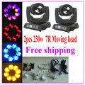 2pcs/lot Sharpy Beam 230W 7R Moving Head Light/ 230 Beam 7R Disco Lights for DJ Club Nightclub Party