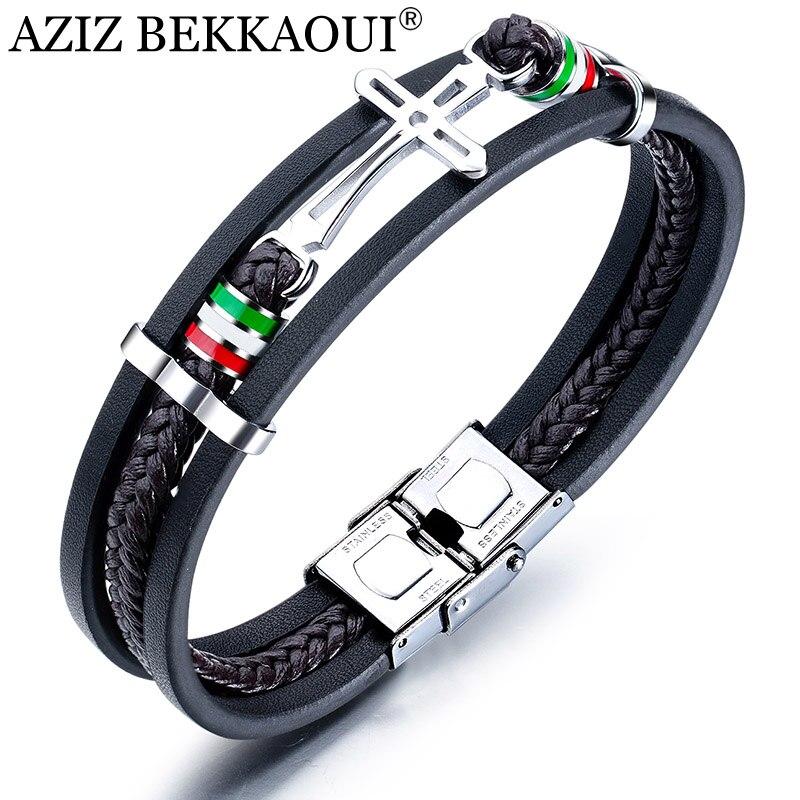 AZIZ BEKKAOUI Cross Leather...
