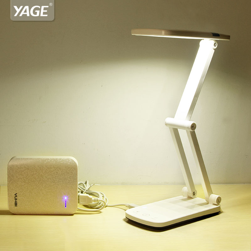 YAGE YG-5924 led desk lamp table light Book reading Night light led desk lamps flexo flexible lamp rechargeable table light usb handbag style flexible neck rechargeable 2 mode 9 led white light desk lamp