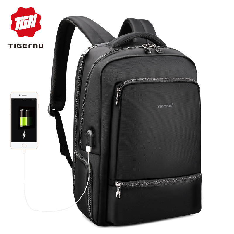 "Tigernu Waterproof Nylon Travel Backpack Men's Backpacks For 15.6"" Laptop Women Notebook Mochila Leisure School Backpack Female"