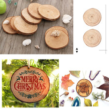 30pcs Natural Wood Slices Diy Hand-painted Craft For Birthday Party Kids Paint Decor Wooden Wedding Decoration Gift Tags 3-4cm