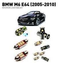 цена на Led interior lights For BMW m6 e64 2005-2010 13pc Led Lights For Cars lighting kit automotive bulbs Canbus Error Free