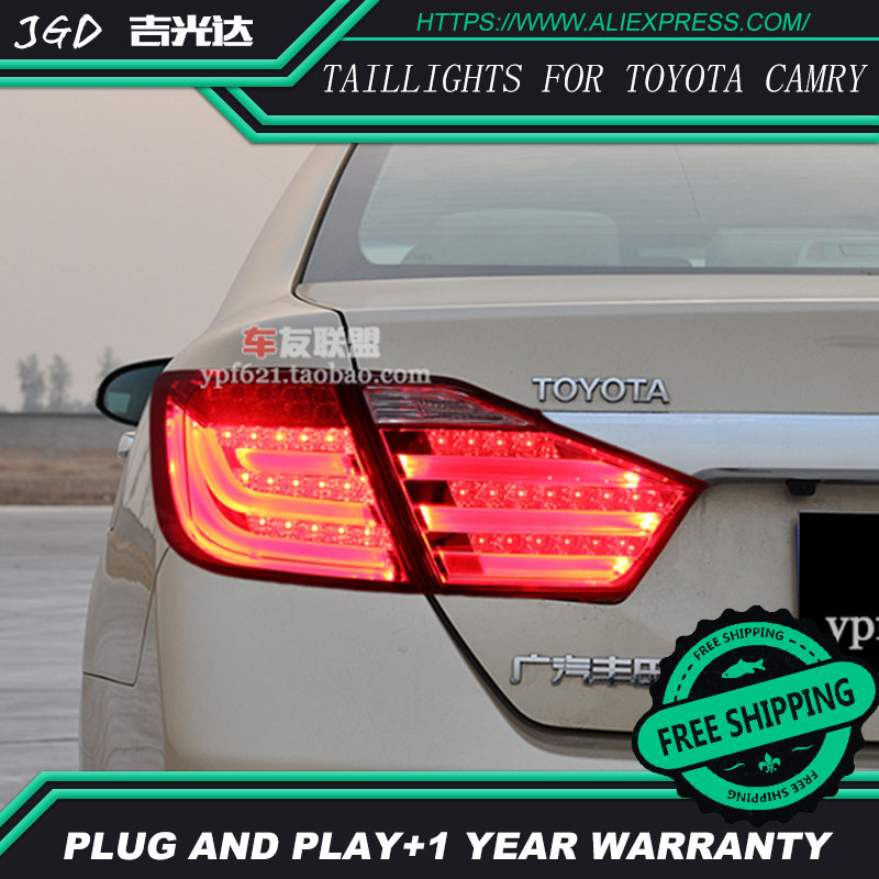 Car Styling tail lights for Toyota Camry V50 2012-2014 LED Tail Lamp rear trunk lamp cover drl+signal+brake+reverse special car trunk mats for toyota all models corolla camry rav4 auris prius yalis avensis 2014 accessories car styling auto