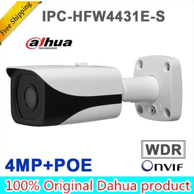 Dahua Original english 4MP WDR IR 40M Mini Bullet Network IP Camera IPC-HFW4431E-S Free shipping цена