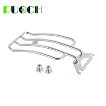 Motorcycle Solo Seat Rear Fender Luggage Rack For Harley Road King FLHR Bagger Electra Glide 1997-2005 Chrome
